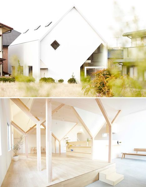 Stark simple house conceals bright complex interiors designs ideas on dornob
