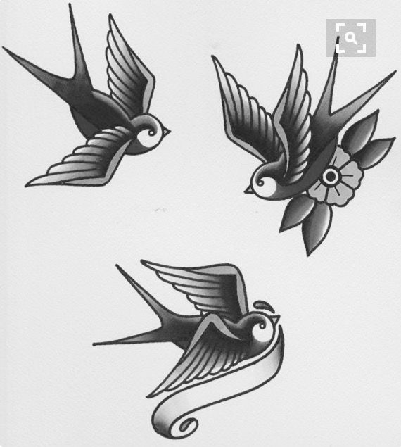 Swallow Retro Tattoos Traditional Swallow Tattoo Vintage Tattoo
