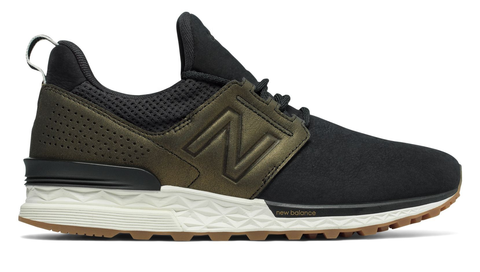 New Balance Nubuck 574 Sport, Black