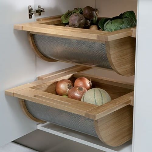 Pull Out Drawer Kitchen Cabinet Specs: Kitchen Vegetable Basket Pull-out Drawer (500mm Cabinet