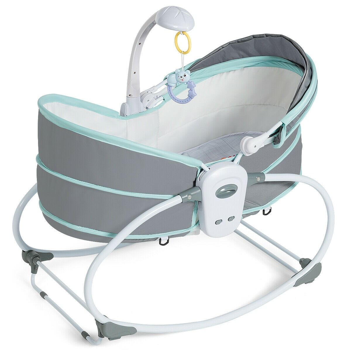 5 In 1 Portable Baby Multi Functional Crib With Canopy Toys