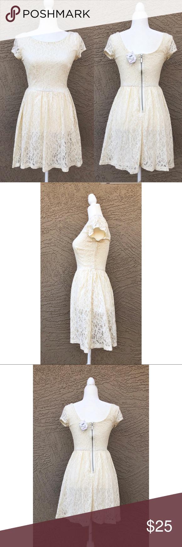 B darlin black lace dress  B DarlinNWTFloral Lace Crochet Skater Dress NWT  Floral lace