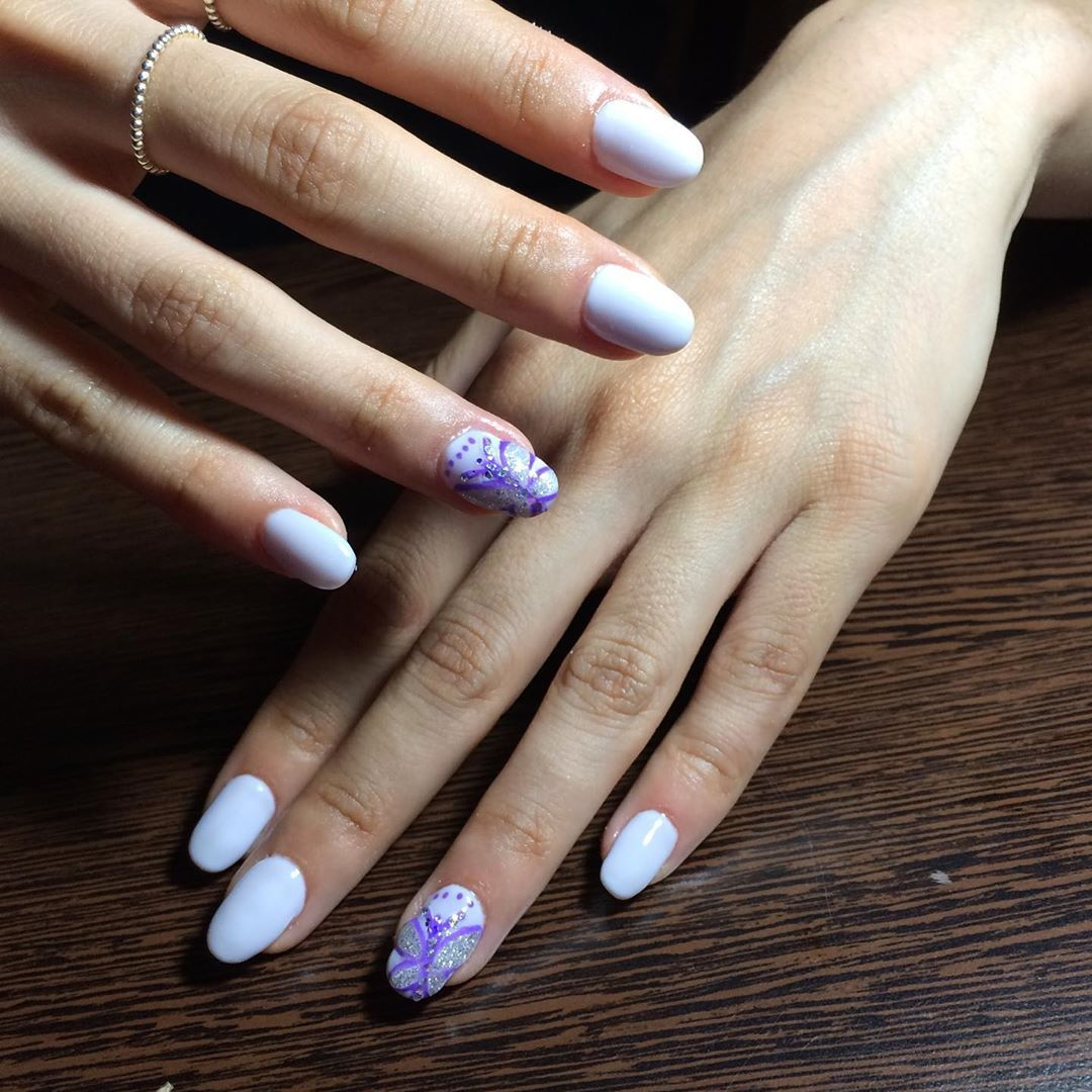 Acrygel Blueskynails Gel Nails Hand Painting Nail Art Nails