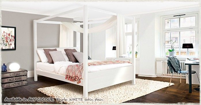 Four Poster Bed Summer Solid Wooden Beds Pinterest Bedrooms