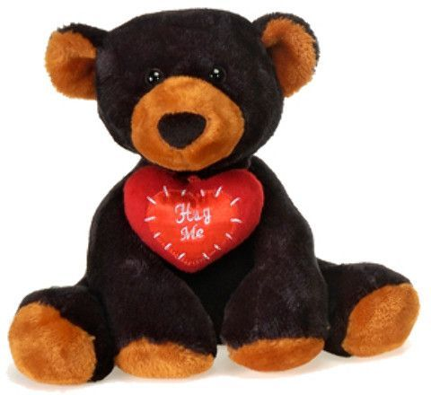 "comfies - 7.5"" sitting b/b black bear Case of 24"