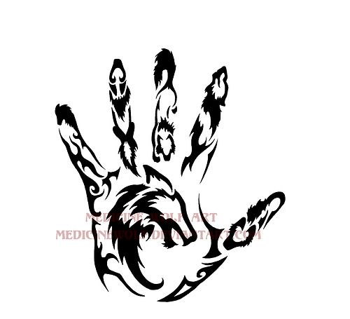 Wolf Hand Tribal Wolf Tattoos Tribal Wolf Tattoo Tribal Drawings