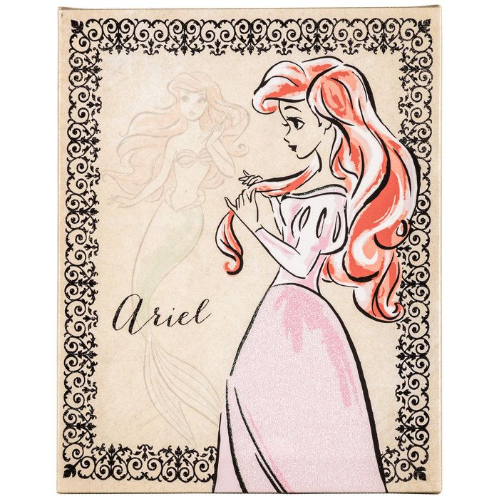 Ariel Vintage Fashionista Canvas Wall Art Princess Canvas Disney Drawings Disney Little Mermaids