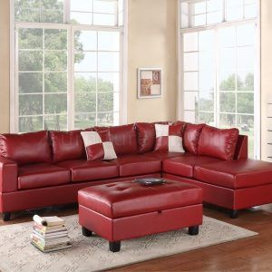 Red Leather Couch Living Room Ideas | Wandfarbe | Ledersofa ...