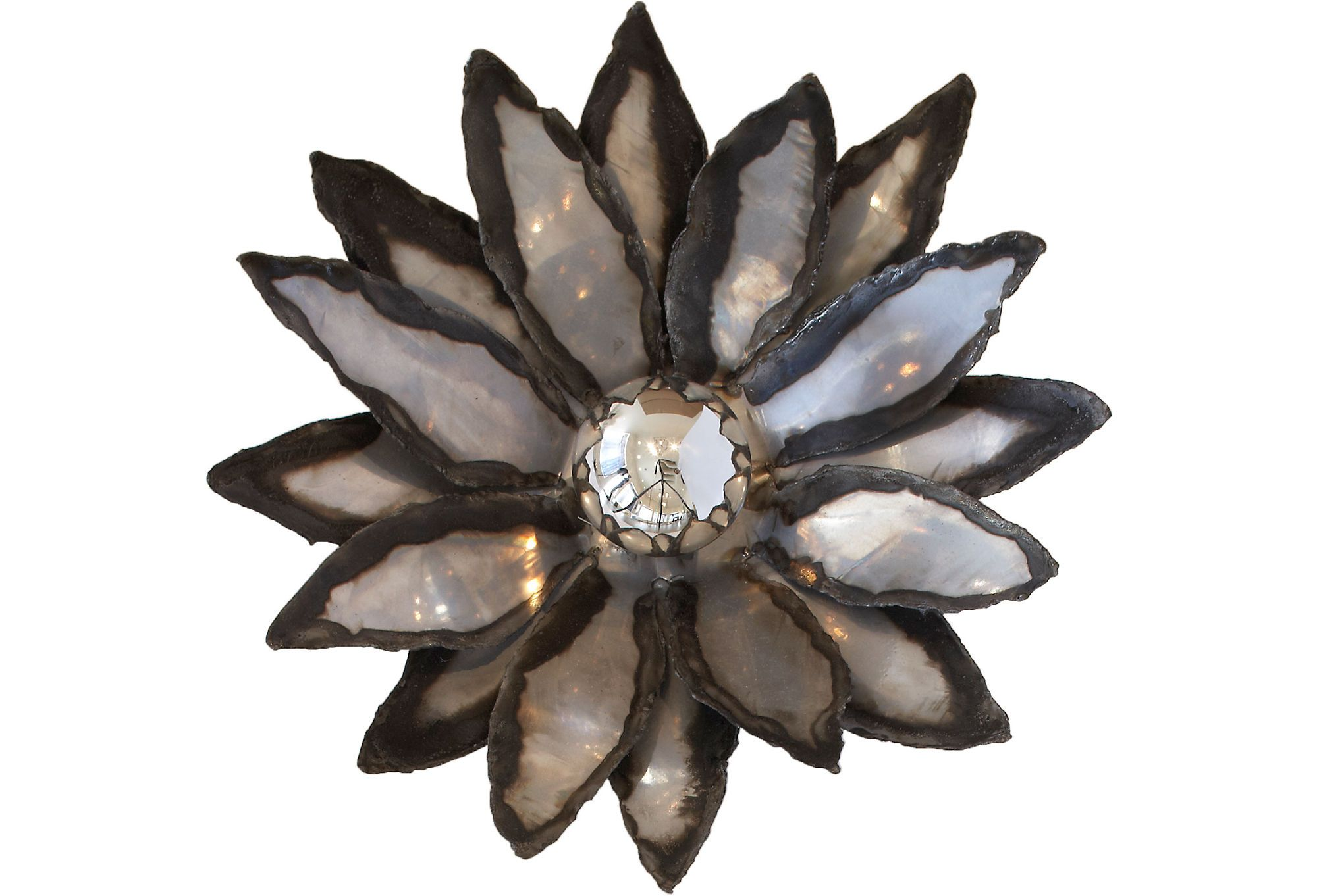 Ames Ingham  Silver Lotus Sconce    $249.00