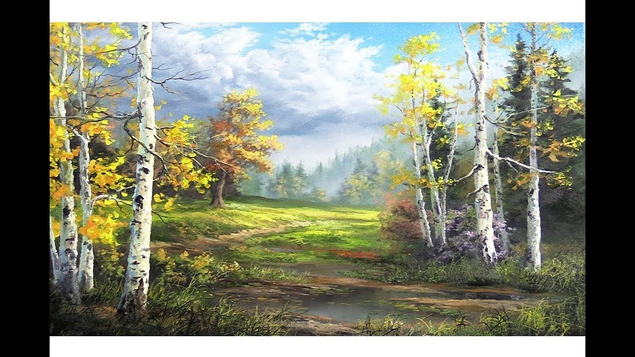 Birch Trees After the Storm | Paint with Kevin | Art - Olja ...