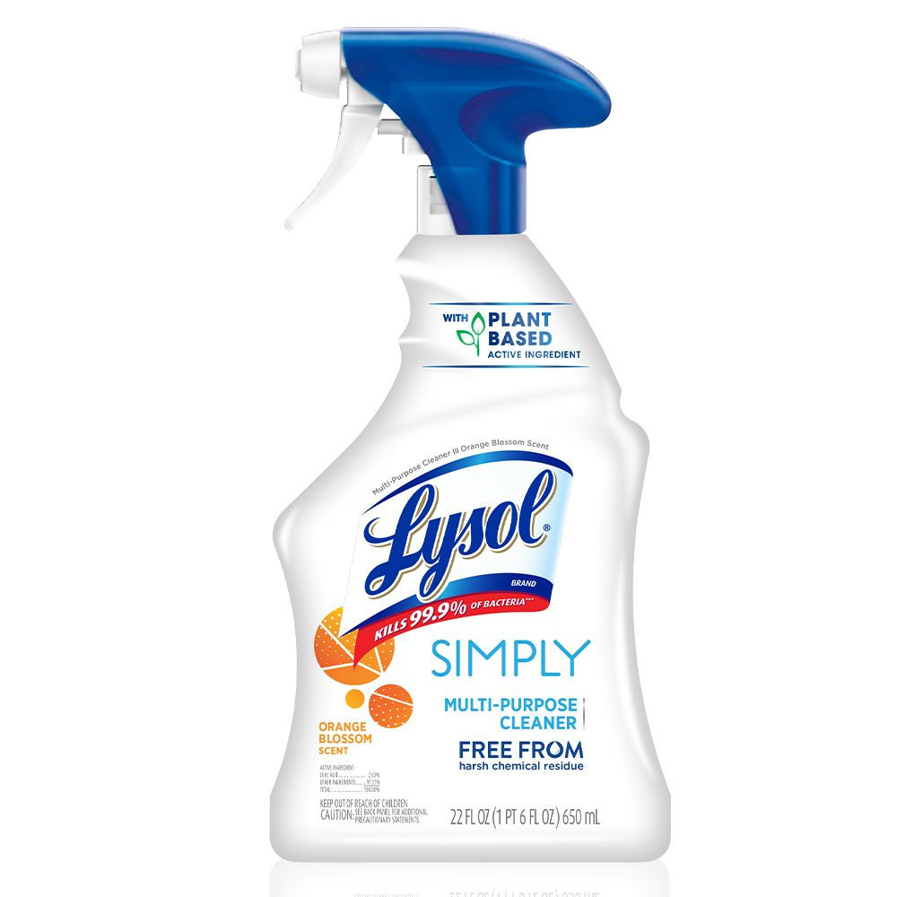 Lysol Simply Multi Purpose Cleaner Spray 22oz Orange Blossom No Harsh Chemicals Plant Based Ingredient Kills 99 Of Bacteria Walmart Com In 2020 Multipurpose Cleaner Lysol Cleaners