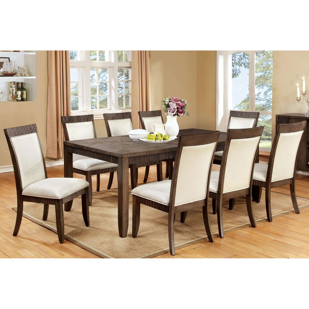 furniture of america mariselle 9 piece urban grey dining set rh pinterest com