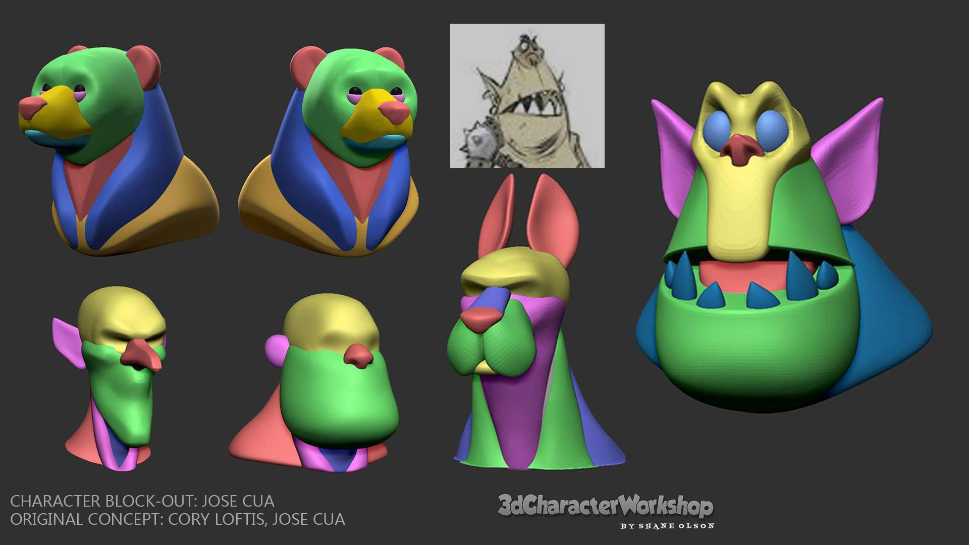 Block-Out Student Gallery | Character Block-Out in 2019