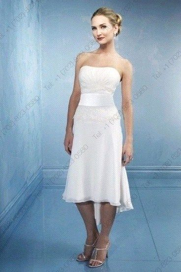 Strapless #Short #Wedding #Dress ♡ For how to organise an entire ...