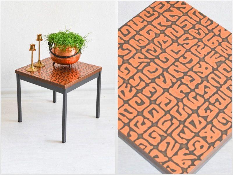 Kupfer Möbel kupfer tisch kupfer blumenhocker beistelltisch 60er jahre kupfer