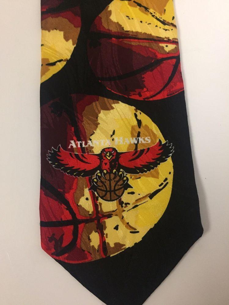 Atlanta Hawks Basketball Silk Tie Vibrant Colors Gold ...