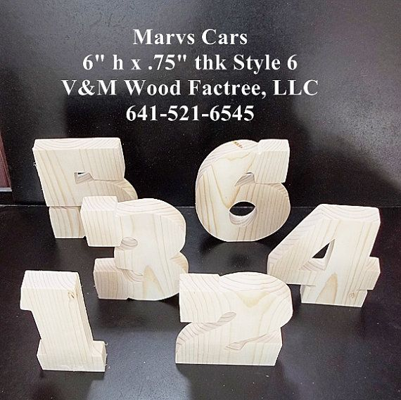 Pkg Of 8 Unfinished Stand Alone Wood Letters Style 6 For Vromley