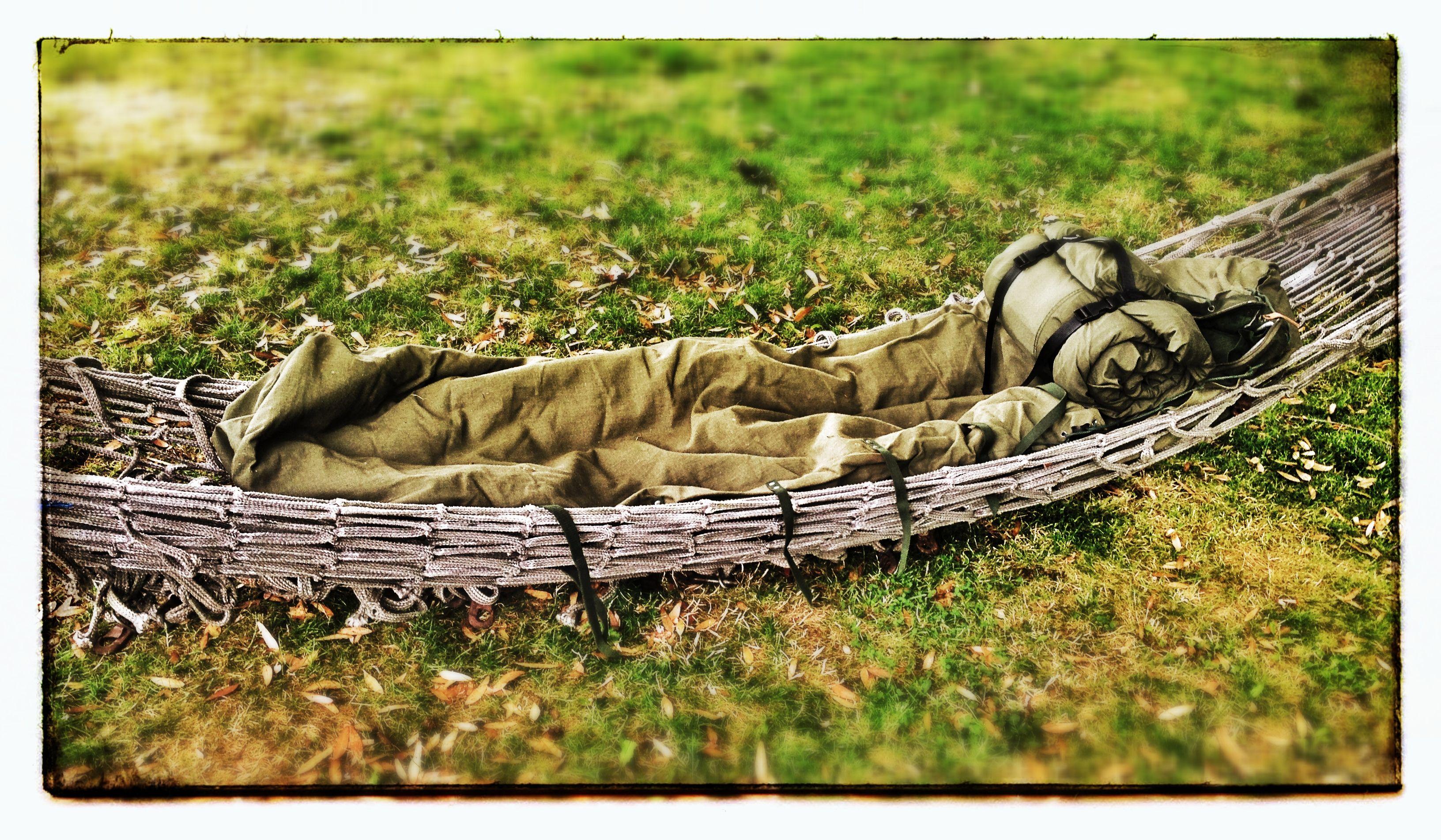 Army Cargo Net Hammock With Wool Amp Canvas Vintage Sleeping