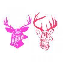 Download Love You Deerly Reindeer Deer SVG Cuttable Design | Adult ...