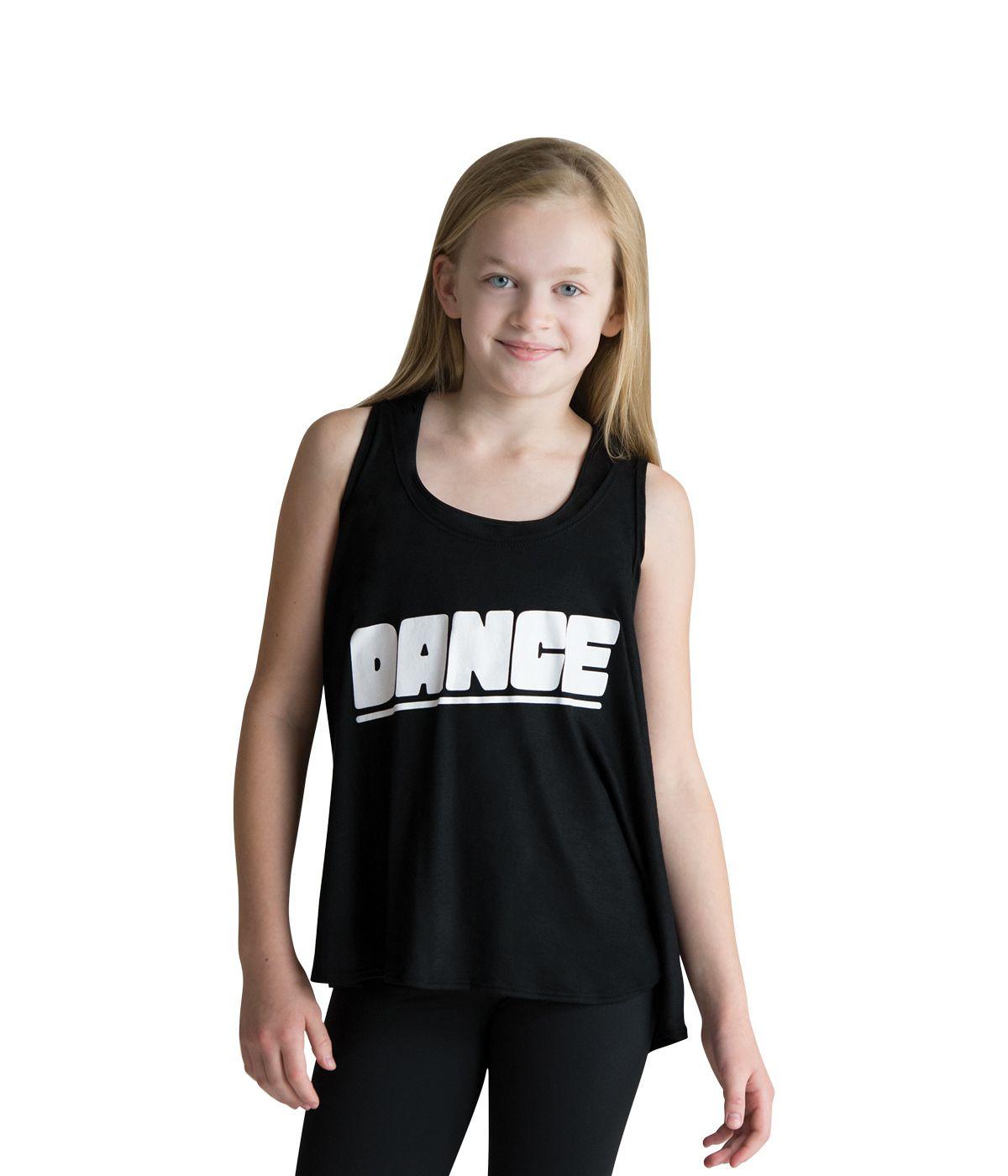 6b78d28a34b2 Kids and Adult Dance Drape Tank Top by MotionWear in Black #4505 ...