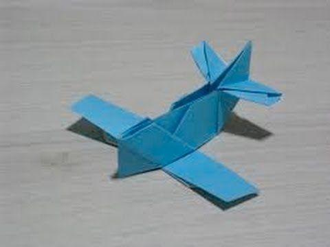 Origami WW1 Plane Easy - YouTube Origami, Arte Em Papel, Artesanato