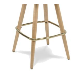 Carroll Chair C B421 21 Replacement Bar Stool Base Wood Round Leg Brass Footring Non Marring Driv Carroll Chair C B421 Bar Stools Wood Rounds Stool