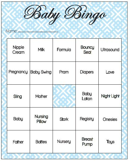 15 Baby Bingo Shower Party Game Family Play Neutral Girl Boy Fun Players Gift