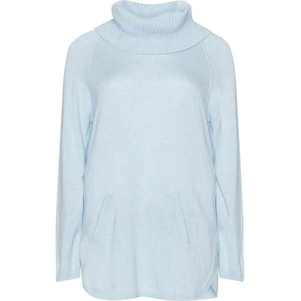 Verpass Light-Blue Plus Size Turtleneck sweater ($130) ❤ liked on ...