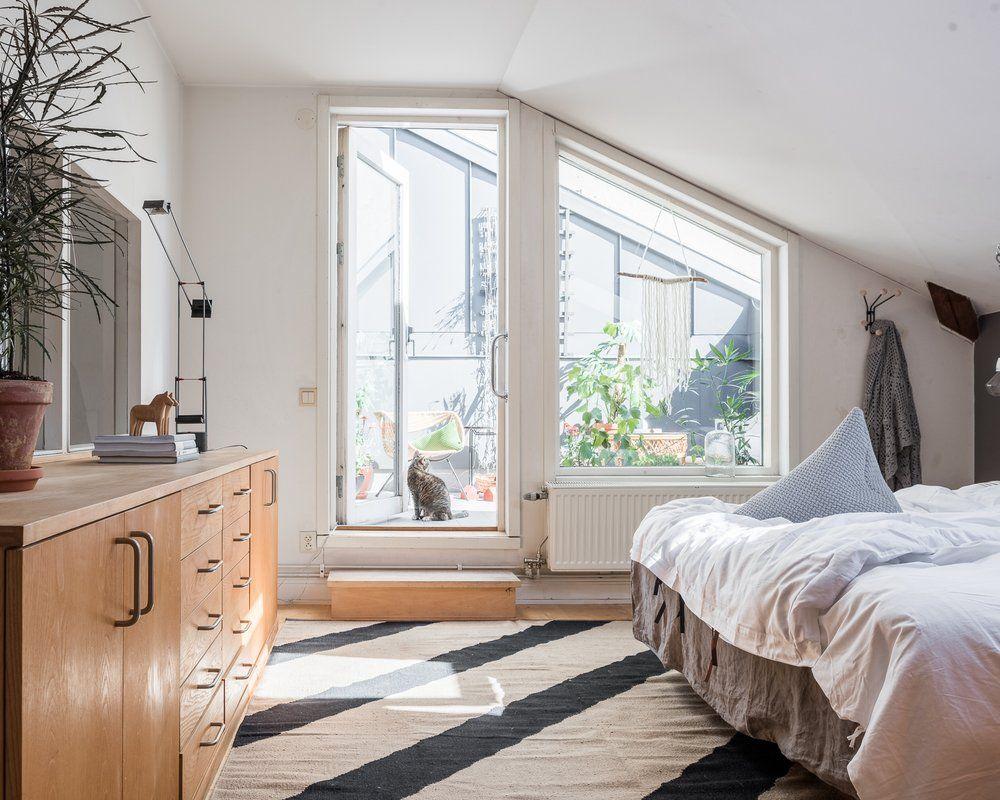 Hamac compris dans ce loft suédois Home decor, Loft