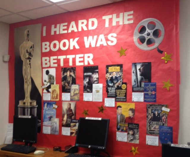 In Celebration Of The Academy Awards School Library Displays School Library Book Displays Library Book Displays