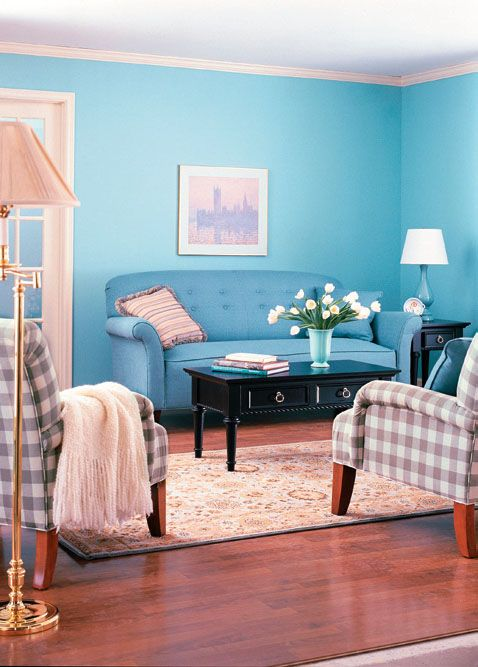 Blue living room...lord knows I don't have a clue what to ...