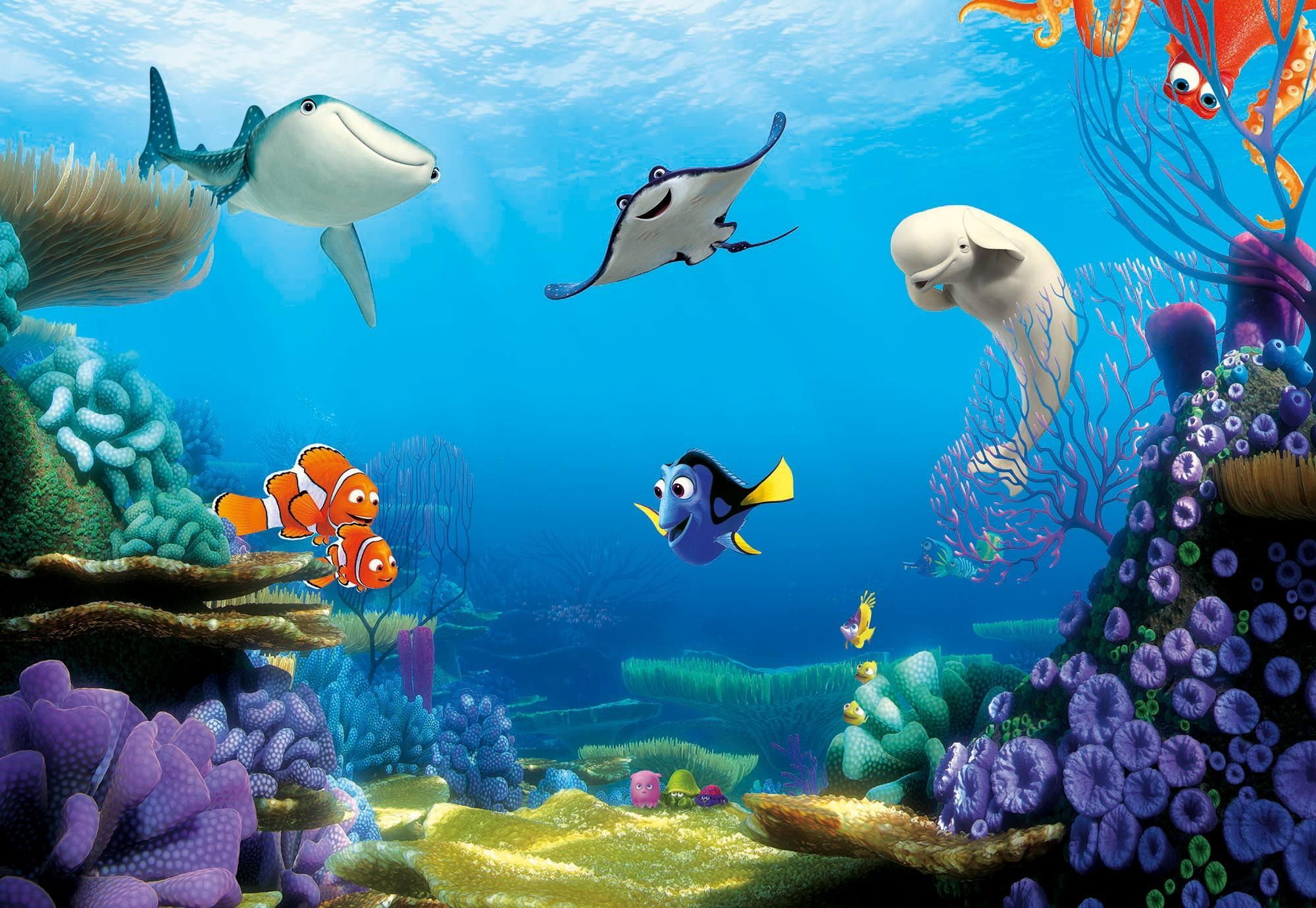 Finding Dory Disney Paper Wallpaper Mural 2 6486 P Jpg 2000 1381 Disney Finding Nemo Art Finding Dory Disney Paintings