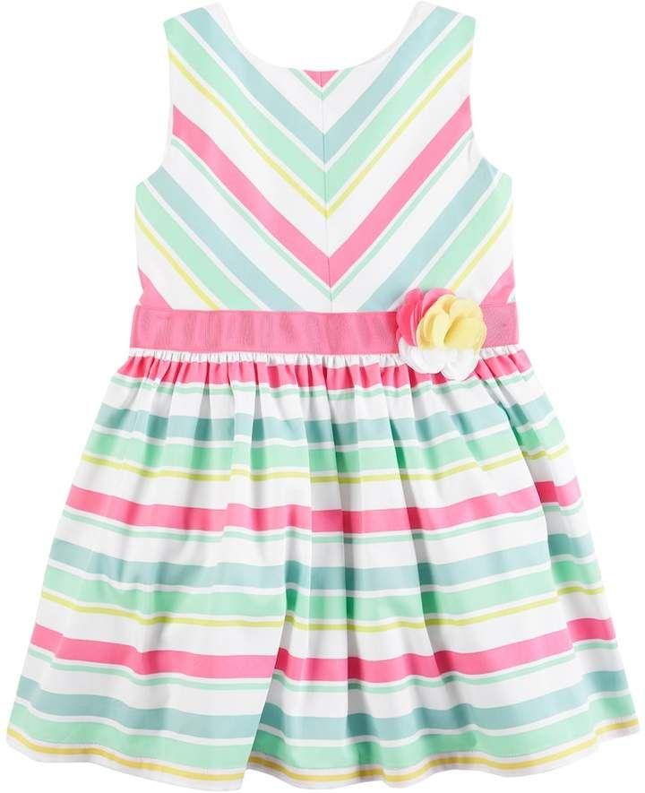 98eb511fe0b7 Toddler Girl Carter s Striped Sateen Dress