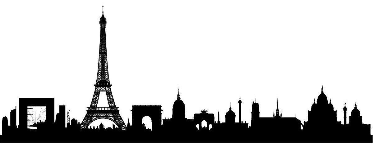 Paris Skyline Vector Image | girl room | Perfil urbano ...