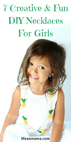 If you have a little girl who loves wearing necklaces, you've got to check out these super fun DIY necklace crafts. You won't have to worry about your girl damaging your diamonds, or losing a family heirloom. She'll have a special necklace she can call her own, and best of all, she can tell everyone she made it herself!