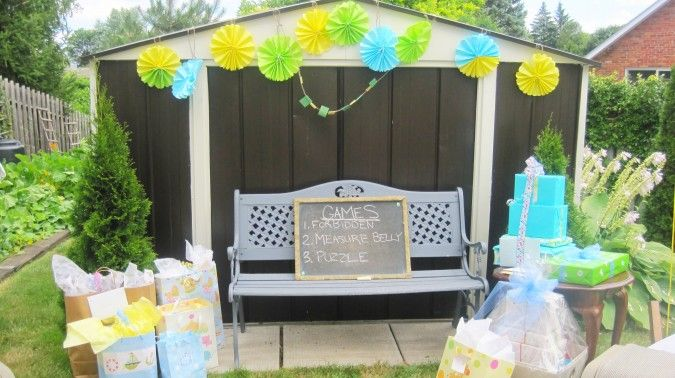 Diy Baby Shower Use A Chalk Board To Write Out The Games Planned