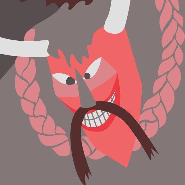 Demons illustration by Lilla Bölecz, via Behance