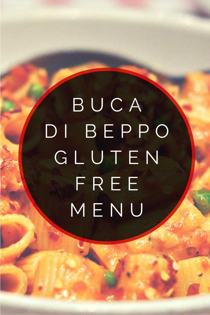 Bucca di Beppo Gluten Free Menu Gluten free menu, Gluten