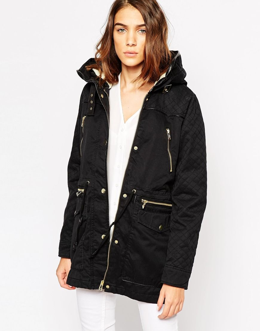 Clothing Wishlist Vero with sleeves moda parka jacket quilted 7nqYr7x