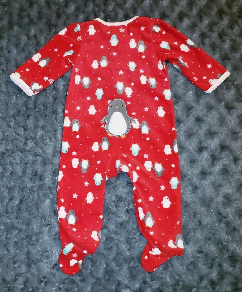 660d4c7c5 VGUC Carters Baby Girl Clothes 3-6 Months One Piece Fleece Footie ...