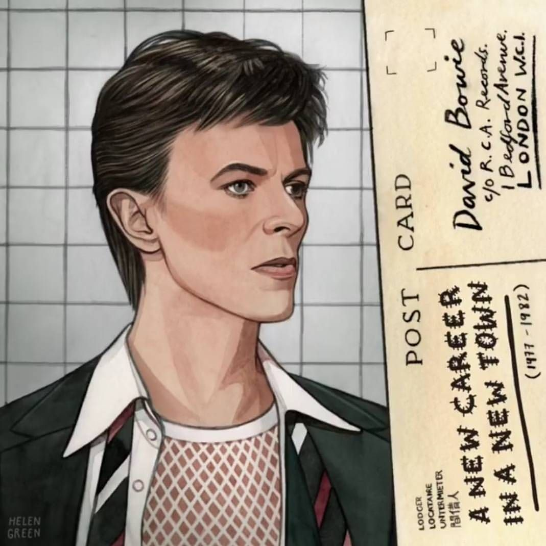 David Bowie Anciant Lodger By Helen Green David Bowie Art David Bowie Fan Art David Bowie Tribute