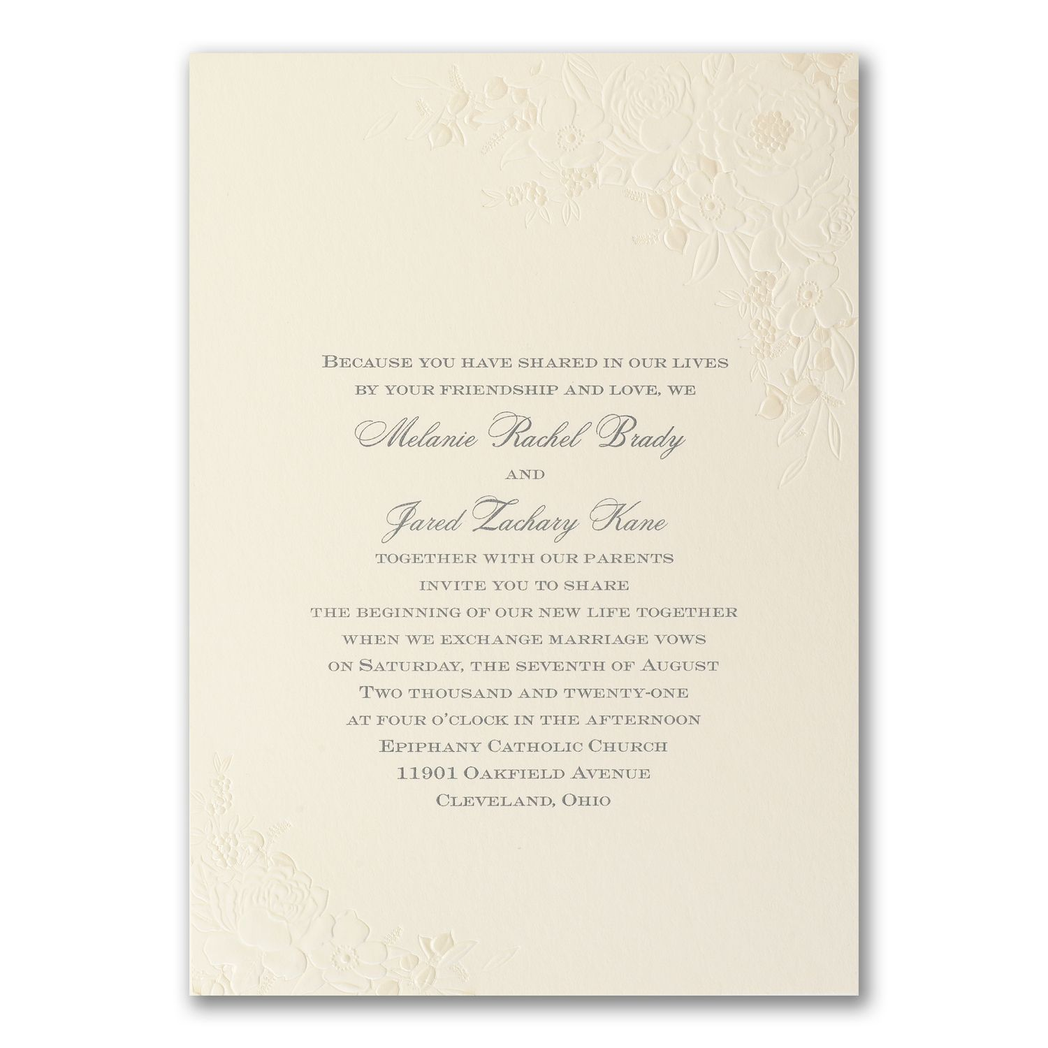 Floral and white Inspiration - Wedding invitation that is semi ...