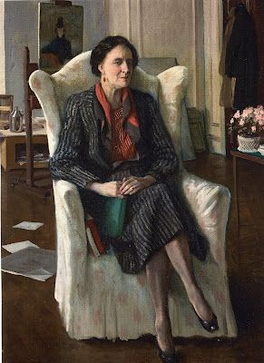 Portrait of Edith Olivier by Rex Whistler.