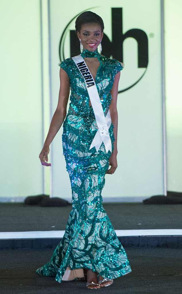 Miss Nigeria from Miss Universe 2017 Evening Gown Competition ...