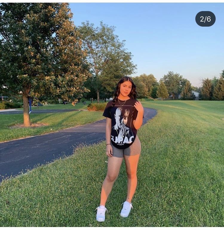 Baddie Fits Air Force One Outfits Black Girl Outfits Light Grey Biker Shorts Outfit
