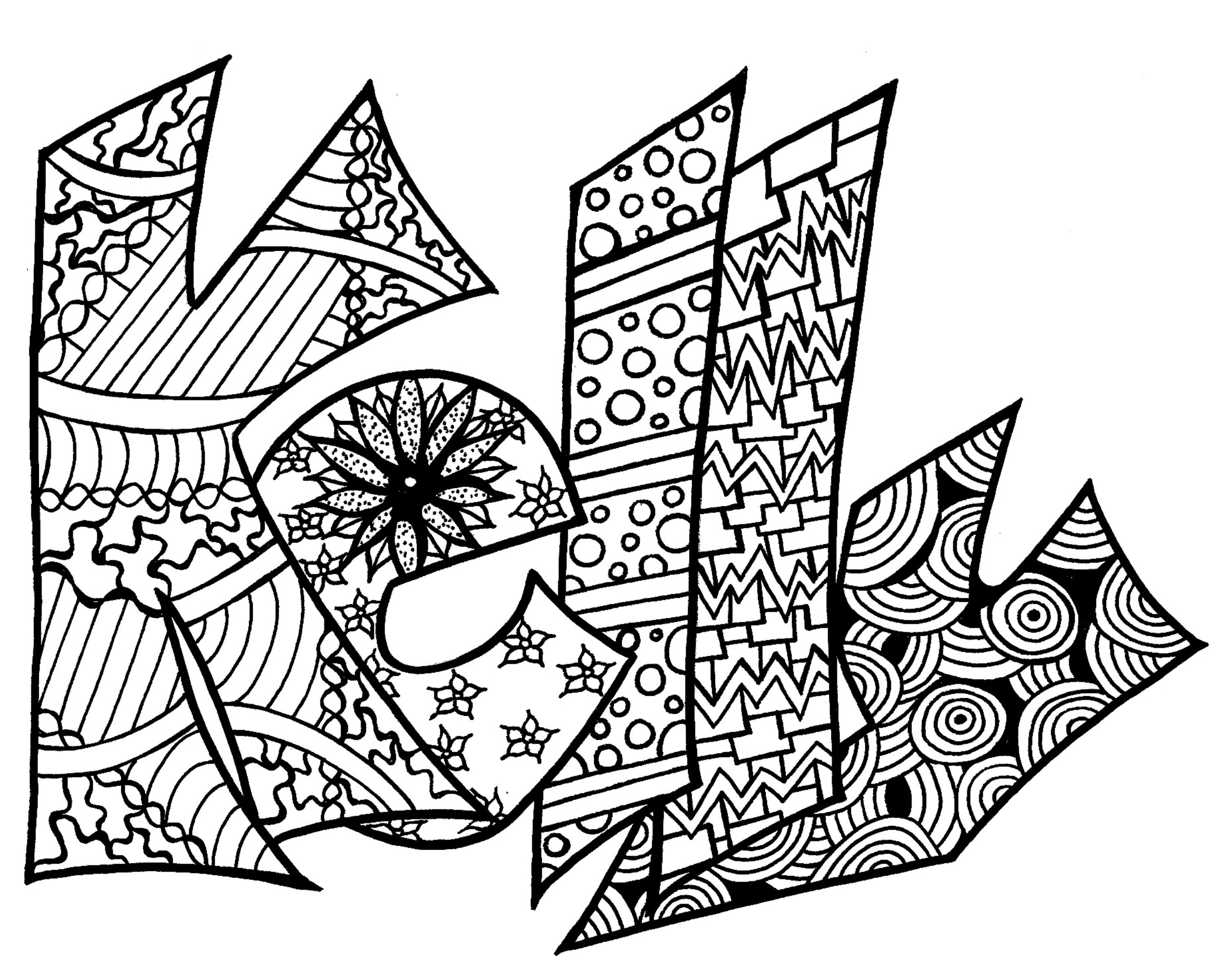 Color Your Name Coloring Coloring Pages