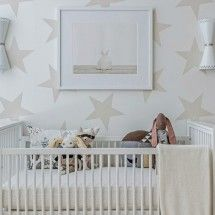 Project Nursery With Star Wallpaper