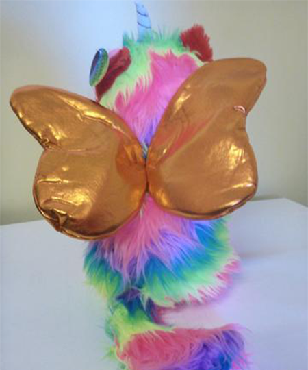 Rainbow Butterfly Unicorn Kitten Stuffed Toy Orange Wings Kitchi Is