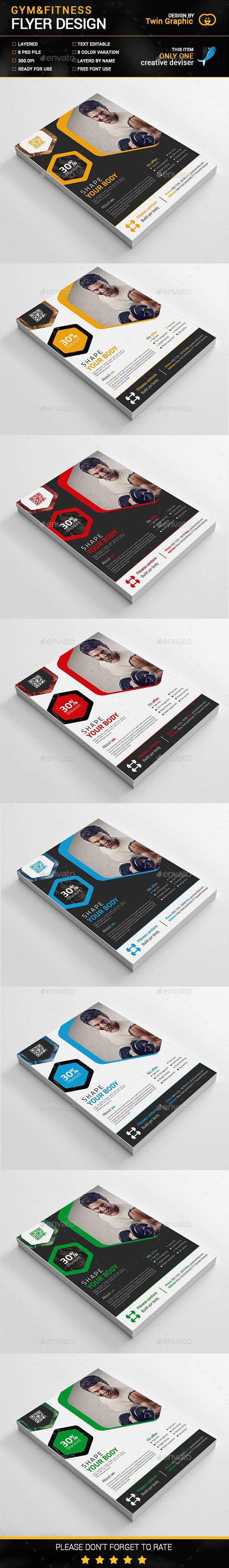 Gym&Fitness Flyer Design | Publicitaria y Taller