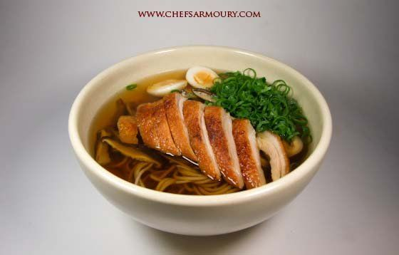 This recipe combines traditional suimono – clear soup – as the base stock for a delicious Japanese noodle soup using juuwari soba – 100% buckwheat noodles – and oven roasted duck breast.